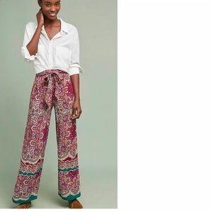 Anthropologie Printed Wide Leg Pants-Sz 16 NWOT